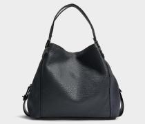 Handtasche Edie 42 aus marineblauem Kalbsleder