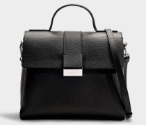 Handtasche Taylor Top Handle aus schwarzem Kalbsleder