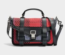 Ps1+ Tiny Tasche in rot und blau