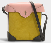 Mini Handtasche Pristine Combo aus Samt und pflanzlich gegerbtem Kalbsleder in Bunt