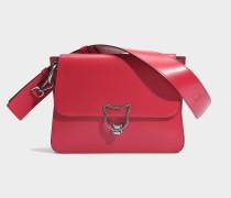 Kat Lock Shoulder Bag aus Ladybird glattem Kalbsleder