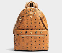 Dual Stark Medium Backpack in Cognac sandfarben