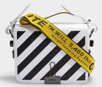 Handtasche Diag Flap aus weißem Kalbsleder