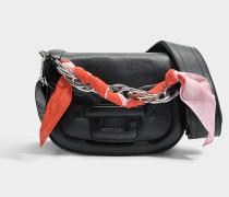 Alphaville Mini Tasche aus silber schwarzem Kalbsleder