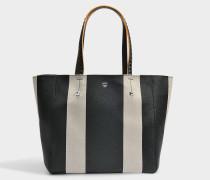 Shopper Tasche aus schwarzem Limonta gebundenem Canvas