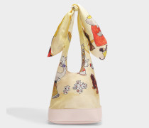 Bow Bag in Twill with Babar Print