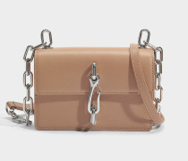 Hook small Crossbody Tasche aus Nude Kalbsleder