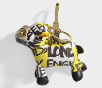 Sheep Schlüsselanhänger aus gelbem Kaschmir