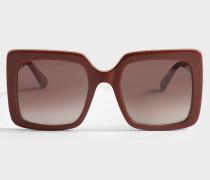 Sonnenbrille aus rotem Bio-Acetat