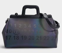 Handtasche Ghost aus schwarzem Kalbsleder
