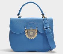 Kleine Handtasche Ducale aus blauem Kalbsleder