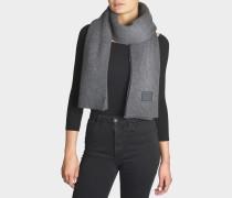 Bansy N Face Schal aus grauer Wolle