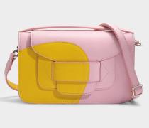 H Clutch Tasche aus gelbem rosanem Kalbsleder