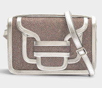 Handtasche Alpha aus Lammleder Versilbert und Pailletten