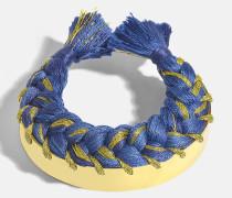 Copacabana Bracelet aus Denim Brut 18K vergoldetem Messing