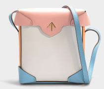 Mini Handtasche Pristine Combo aus pflanzlichem Kalbsleder in Bunt