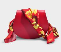 Kleine Tasche Scarf aus rotem Synthetikmaterial