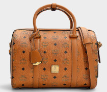 Handtasche Boston Essentiel Visetos Original Medium aus cognacfarbenem PVC