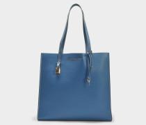 The Grausd Tote Bag aus Vintage blauem Kuhleder