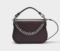 Small Shoulder Bag mit Chain aus Burgundy Kalbsleder