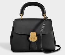 DK88 Tasche aus schwarzem geprägtem Kalbsleder
