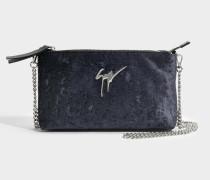 Snob Clutch Tasche aus schwarzem Leder
