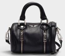 Tasche Sunny Nano aus schwarzem Kalbsleder