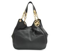 Fulton Hobo Tasche aus schwarzem Soft Venus