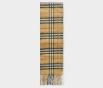 Long skinny vintage check scarf 300x14