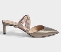 Rockstud Pointed Mule Schuhe aus Kalbsleder