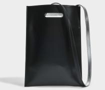 Hand Carry Minimal Tasche aus schwarzem Kalbsleder