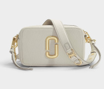 The Softshot 21 Bag in Beige Leather