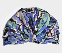 Turban mit Print aus bunter Seide