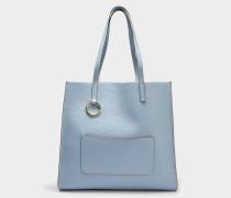 The Bold Grausd Tote Bag aus hellblauem Kuhleder