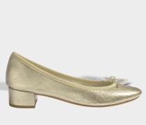 Camille Ballerinas aus blassem goldfarbenem Kalbsleder