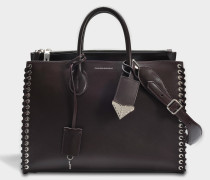 Whipstitch Tote Bag aus Burgundy Kalbsleder