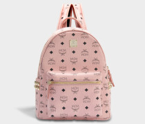 Stark Small Backpack in Pink Coated Canvas