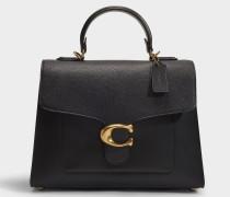 Handtasche Tabby aus schwarzem Leder