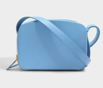 Vanity Kamera Tasche in Cloudfarbe aus Kalbsleder