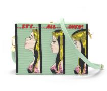 It'S All Over Book Clutch with Strap aus Almond grüner Baumwolle und Messing