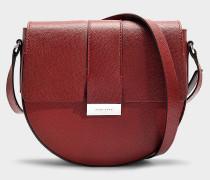 Handtasche Taylor aus dunkelrotem Kalbsleder