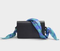Tasche Scarf Medium aus schwarzem Synthetikmaterial