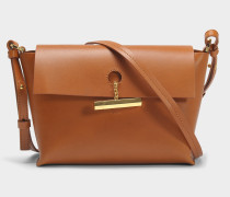 The Pinch Crossbody Tasche aus Tan Kuhleder