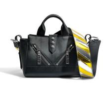 Kalifornia Mini Tote Bag aus schwarzem Kalbsleder