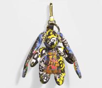 Hare Schlüsselanhänger aus gelbem Kaschmir