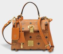 Heritage Satchel Tasche in Cognac sandfarben