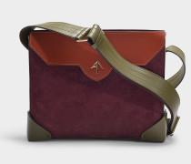 Handtasche Bold Combo aus Kalbsleder mit pflanzlicher Gerbung und mehrfarbigem Wildleder