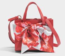 Foulard Tote Bag aus rotem Dolce T Leder