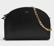 Luna Tasche aus schwarzem glänzend Kalbsleder