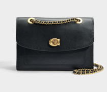 Parker Shoulder Bag in Black Refined Calf Leather